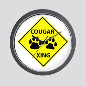 Cougar Mountain Lion Crossing Wall Clock
