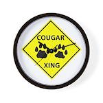 Cougar Mountain Lion Crossing Wall Clock