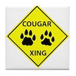 Cougar Mountain Lion Crossing Tile Coaster