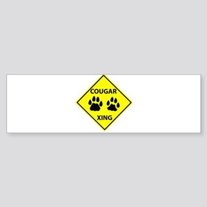 Cougar Mountain Lion Crossing Bumper Sticker