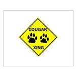 Cougar Mountain Lion Crossing Small Poster