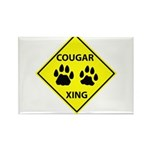 Cougar Mountain Lion Crossing Rectangle Magnet (10