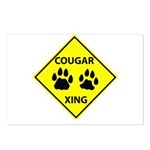 Cougar Mountain Lion Crossing Postcards (Package o