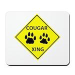 Cougar Mountain Lion Crossing Mousepad