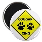 Cougar Mountain Lion Crossing Magnet