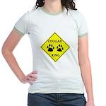 Cougar Mountain Lion Crossing Jr. Ringer T-Shirt