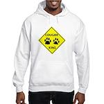 Cougar Mountain Lion Crossing Hooded Sweatshirt