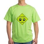 Cougar Mountain Lion Crossing Green T-Shirt