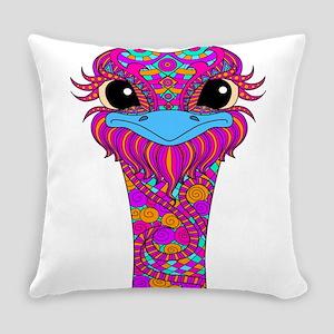 Crazy Bird Everyday Pillow
