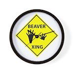 Beaver Crossing Wall Clock