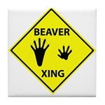 Beaver Crossing Tile Coaster