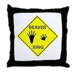 Beaver Crossing Throw Pillow