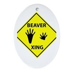 Beaver Crossing Oval Ornament