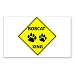Bobcat Crossing Sticker (Rectangle)
