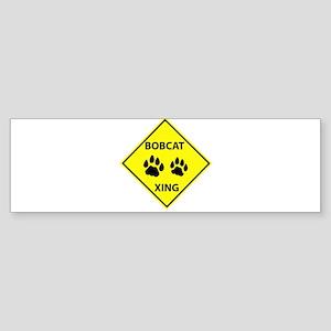 Bobcat Crossing Sticker (Bumper)