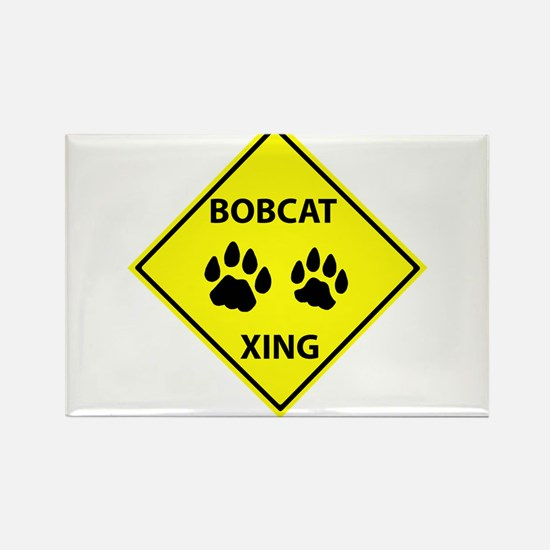 Bobcat Crossing Rectangle Magnet