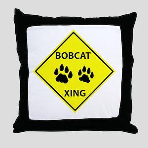 Bobcat Crossing Throw Pillow