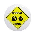 Bobcat Crossing Ornament (Round)