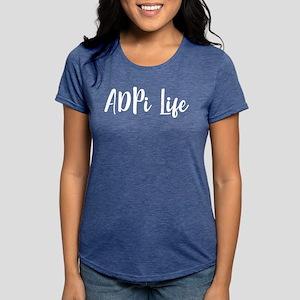 Alpha Delta Pi Life Womens Tri-blend T-Shirt