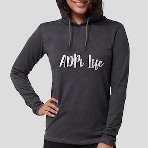Alpha Delta Pi Life Womens Hooded Shirt