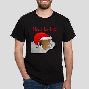 Santa Bulldog Dark T-Shirt