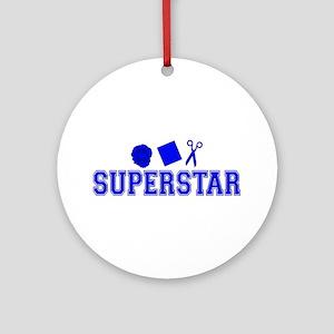 Rock Paper Scissors Superstar Ornament (Round)