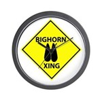 Bighorn Crossing Wall Clock