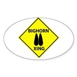 Bighorn Crossing Oval Sticker