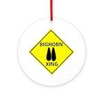 Bighorn Crossing Ornament (Round)