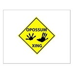 Opossum Crossing Small Poster