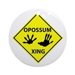 Opossum Crossing Ornament (Round)