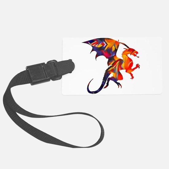 Fire Dragon Luggage Tag