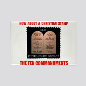 """CHRISTIANS NEED A STAMP TOO 2.25"""" Magnet (10"""