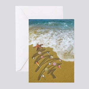 Holiday greeting cards cafepress christmas seashells and tree washed greeting cards m4hsunfo