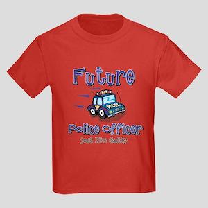 Future Policeman just like Dad Kids Dark T-Shirt
