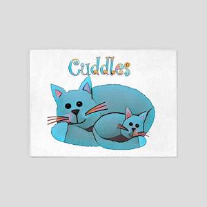 Cat Cuddles 5'x7'Area Rug