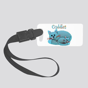 Cat Cuddles Small Luggage Tag