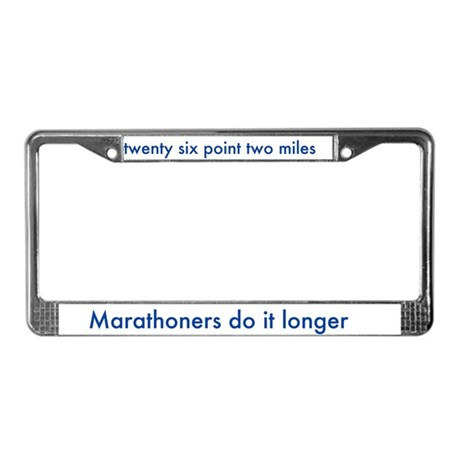 License Plate Frame For Marathon Runners By Forusrunners
