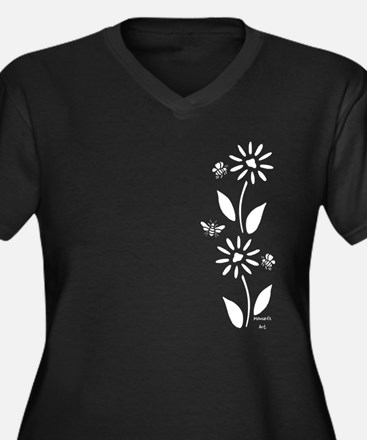 Flowers And Plus Size T-Shirt