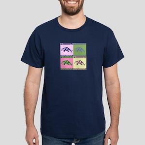 MIBRES FISH QUAD Dark T-Shirt