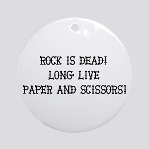 Rock, Paper, Scissors Ornament (Round)