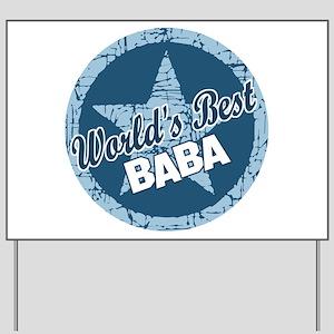 Worlds Best Baba Yard Sign
