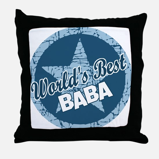 Worlds Best Baba Throw Pillow