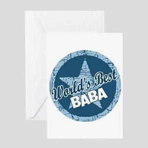 Worlds Best Baba Greeting Card