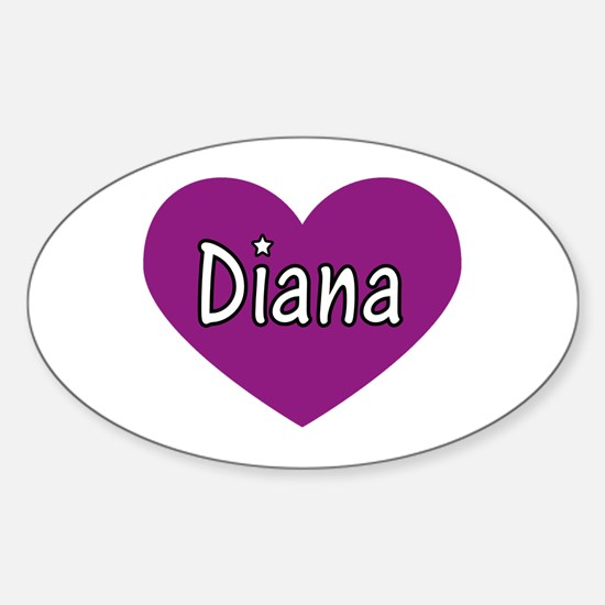 Diana Oval Decal