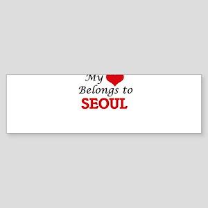 My heart belongs to Seoul South Ko Bumper Sticker