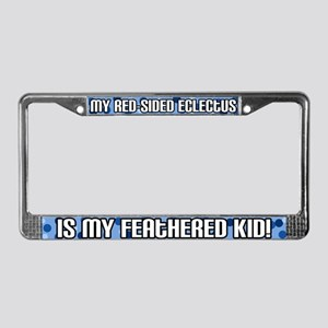 Red-Side Eclectus Fthered Kid License Plate Frame