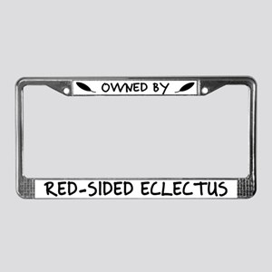 Owned by Red-Sided Eclectus License Plate Frame