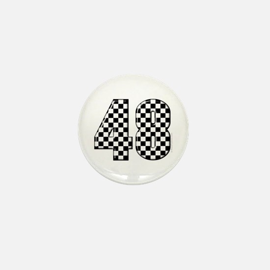 Racing Number 48 Mini Button
