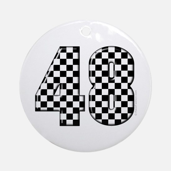 Racing Number 48 Ornament (Round)
